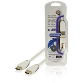 HDMI 1.4 kabel, 2 m, bijeli, Bandridge BBM34000W20