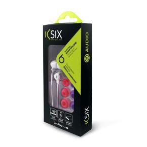 Slušalice sa mikrofonom, stereo, KSIX Go&Play, bijele