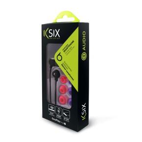 Slušalice sa mikrofonom, stereo, KSIX Go&Play, crne