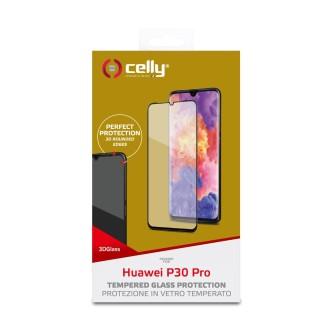 Zaštitno staklo za Huawei P30 Pro, crno, Celly