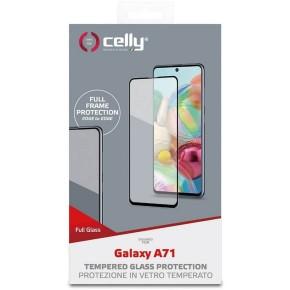Zaštitno staklo za Samsung Galaxy A71, 9H, crno, Celly