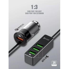 Auto punjač sa 1xUSB Quick Charge i 3xUSB 35W, 12/24v LDNIO C61