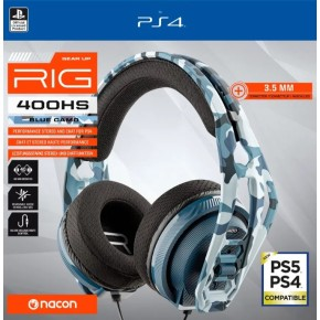 Gaming slušalice Nacon RIG 400HS Cammo Blue za Playstation 4 PS4 PS5