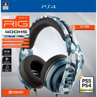 Gaming slušalice Nacon RIG 400HS Cammo Blue za Playstation 4 PS4 PS5
