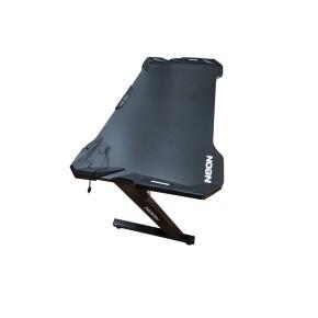 Gaming stol NEON eSports Gamer, LED RGB, 120cm, crni