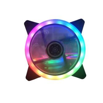 Set ventilatora za kućište NEON, 3x ring RGB LED + kontroler + daljinski upravljač