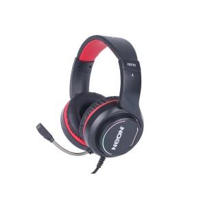 Gaming slušalice i mikrofon NEON KRATOS, crno - crvene, 7,1, LED RGB, USB