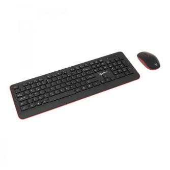 Tipkovnica i miš bežični, crno-crveni SBOX WKM-24