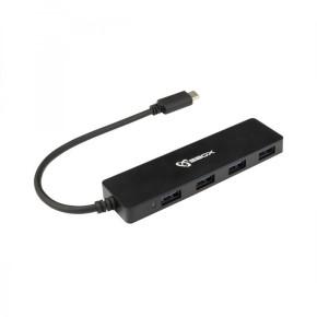 USB razdjelnik USB-C na USB-A, 4 ulaza, hub, SBOX H-404C