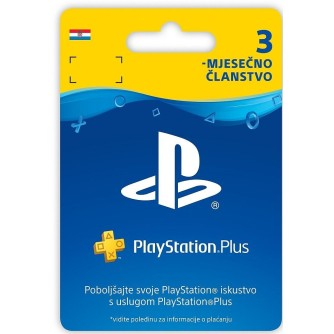 Pretplata, članstvo PlayStation Plus Card 90 Days Hanger PS3 PS4