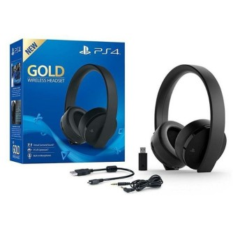 Slušalice Sony Playstation 4 PS4 Wireless gold stereo headset black