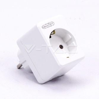 Smart WiFi utičnica sa USB kompatibilna sa Amazon Alexa i Google Home V-TAC VT-5002