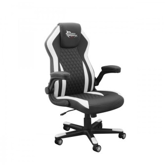 Gaming stolica crno-bijela, White Shark Dervish