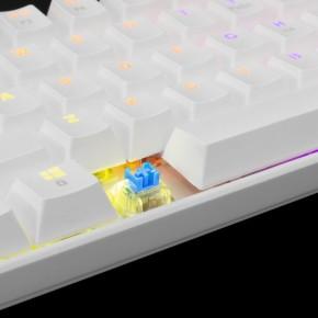 Gaming tipkovnica HR White Shark GK-2022 Shinobi bijela sa plavim prekidačima