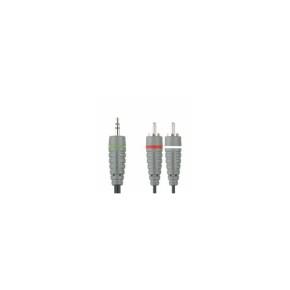 Bandridge BAL3402, audio kabel 3.5mm - 2XRCA, 2.0m