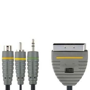 Bandridge BVL6805, PC - TV kabel, 3.5mm+S-Video+RCA - Skart, 5 m