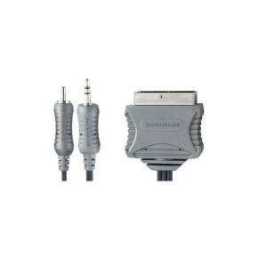 Bandridge VL5705, audio/video kabel RCA/3.5mm na Skart, 5.0m