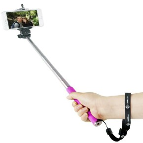 CELLY, selfie štap mini, 3.5mm povezivanje, rozi