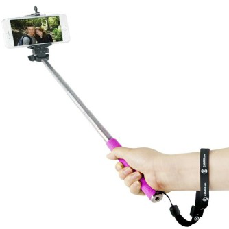 Selfie štap mini, 3.5mm povezivanje, rozi, Celly