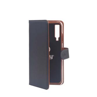 Preklopna torbica za Samsung Galaxy A7 2018, crna, CELLY, Wally