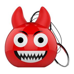 Mini zvučnik, 3.5mm povezivanje, Vrag, crveni, Celly