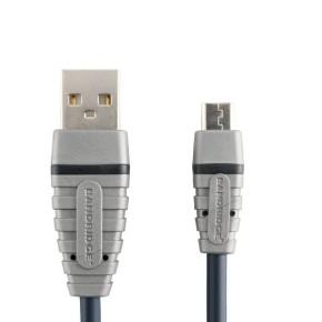 Kabel USB 2.0, 1 m, USB A muški na micro USB B muški, Bandridge BCL4901