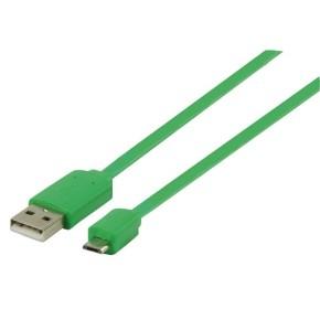 Kabel USB 2.0 na micro USB, 1 m, zeleni, Value Line VLMP60410G1.00