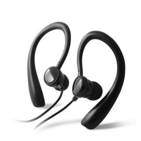 KSIX, stereo slušalice sa mikrofonom, Go&Play, sportske, crne