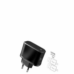 Kućni, zidni punjač, dual USB, 2.1A, crni, Celly