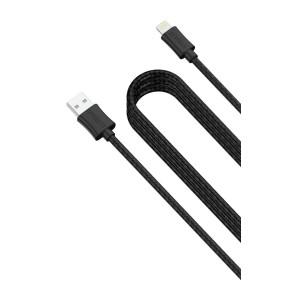 Lightning charge and sync kabel, pleteni, 3 m, crni, Cygnett