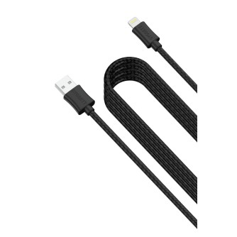 Lightning charge and sync kabel, pleteni, 4 m, crni, Cygnett