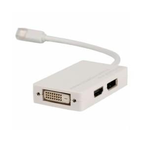 Mini DisplayPort na DVI + DisplayPort + HDMI multi adapter, 0,2 m, Value Line VLMP37460W0.20