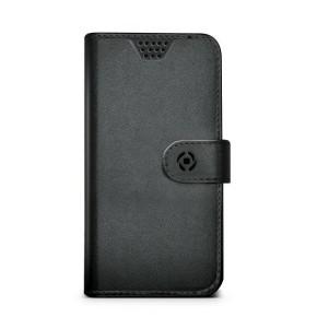 Preklopna torbica univerzalna, XXL veličina, 5.0-5.7, crna, CELLY Wally Unica