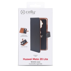 Preklopna torbica za Huawei Mate 20 Lite, crna Celly Wally