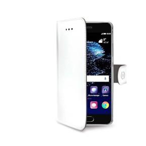 Preklopna torbica za Huawei P10, bijela, CELLY Wally