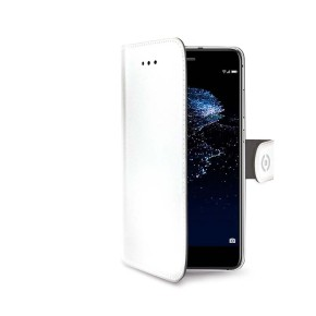 Preklopna torbica za Huawei P10 Lite, bijela, CELLY Wally
