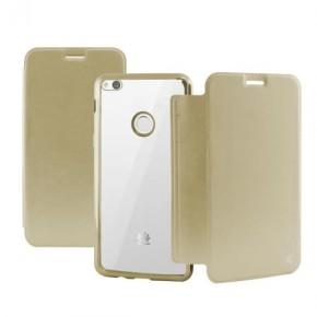 Preklopna torbica za Huawei P10 Lite, Ksix Metal Folio, zlatna