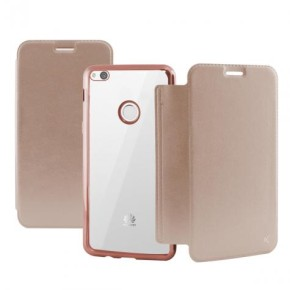 Preklopna torbica za Huawei P10 Lite, roza, Ksix Metal Folio