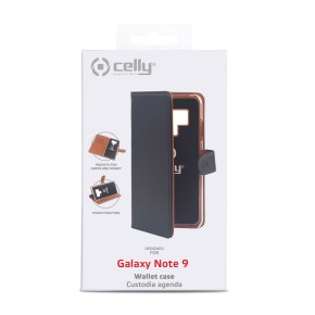 Preklopna torbica za Samsung Galaxy Note 9, crna, CELLY Wally