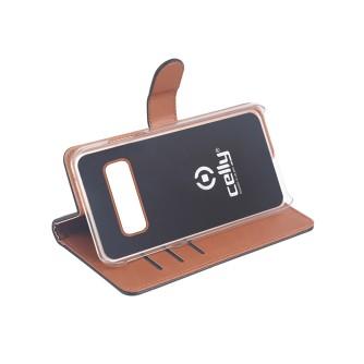 Preklopna torbica za Samsung S10, crna, Celly Wally
