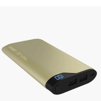 Prijenosna baterija za mobitel, 6000 mAh, zlatna, Cygnett ChargeUp