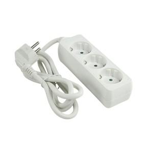 Produžni kabel naponska letva 3-struka, 3 m, bijela, bulk, Value Line EL-PS030W3-HQ