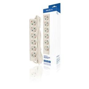 Produžni kabel naponska letva 6-struka, 3 m, bijeli Value Line VLES630F001WH