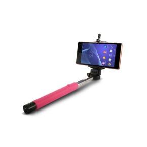 Selfie štap, povezivanje sa 3,5 mm kabelom, roza, KSIX