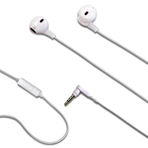 Slušalice sa mikrofonom, bijele, Celly NJOY