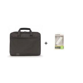"""Torba za laptop do 15,6"""", Start Plus Tucano, crna + Power Bank 1800"""