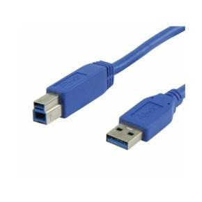 USB 3.0 kabel, USB A muški na USB B muški, 2 m, plavi, Value Line VLCB61100L20