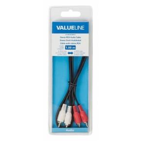 Value Line VLAB24200B10, audio kabel 2XRCA - 2XRCA, 1 m