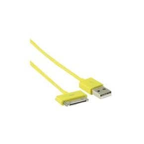 Value Line VLMP39100Y1.00, USB na Apple 30pin kabel, 1.0m, žuti