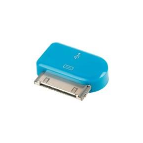 Value Line VLMP39900L, Micro USB na Apple 30pin adapter, plavi